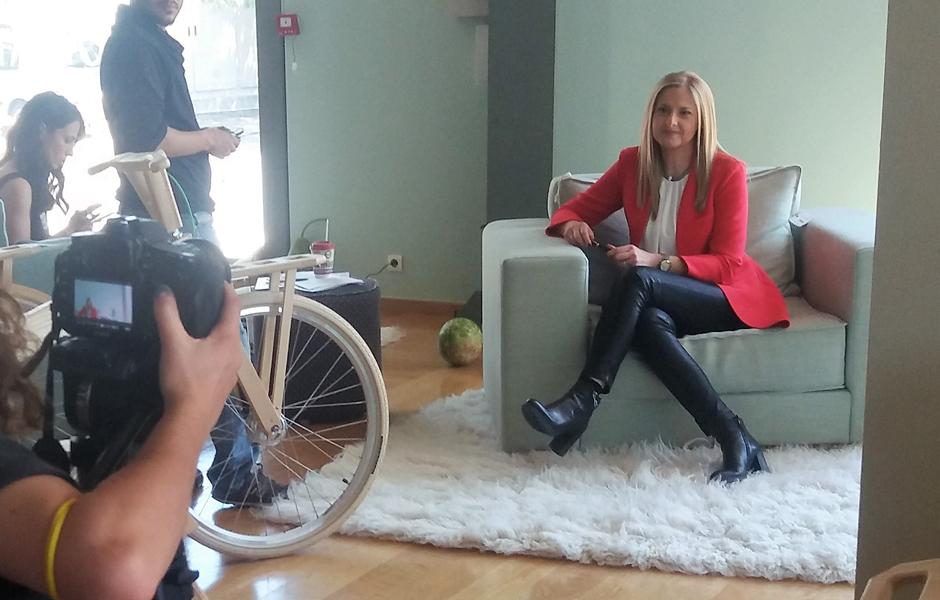 Άννα Παρδάλη - TV Photoshooting